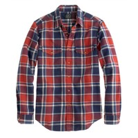 Flannel shirt in cerise plaid