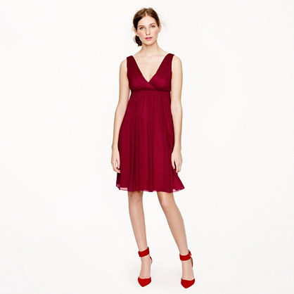 Petite Brigitte dress in silk chiffon