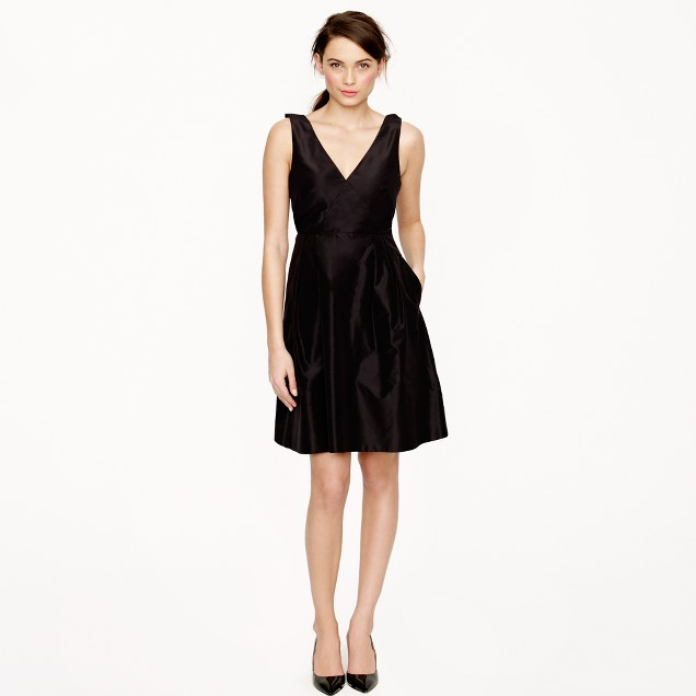 Cilla dress in silk taffeta