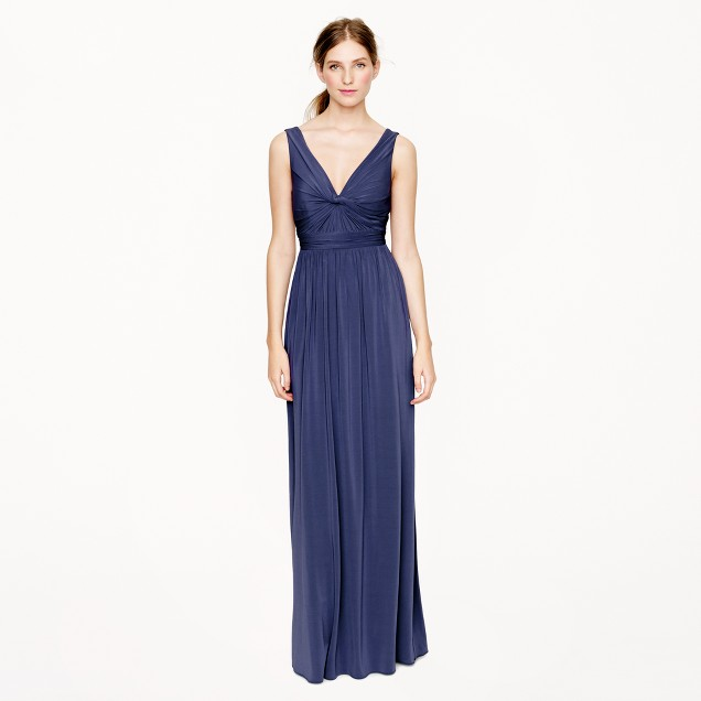 Helene long dress in liquid jersey