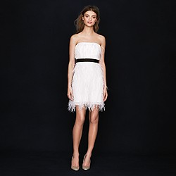 Collection feather flutter dress