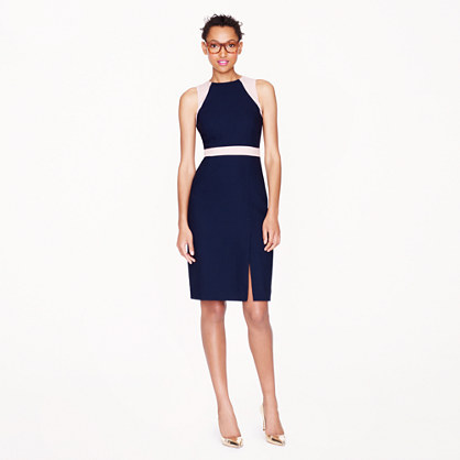 Petite Gwen dress in colorblock