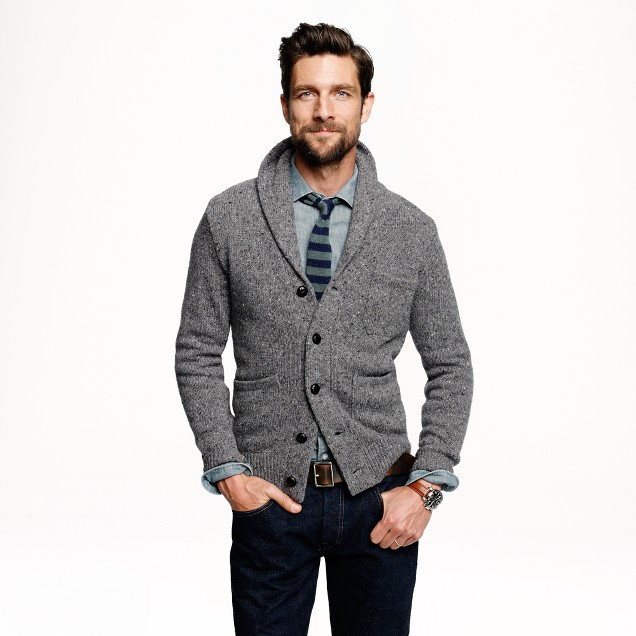 Donegal shawl cardigan j crew for J crew mens outfits