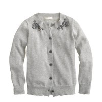 Girls' Caroline cardigan in jeweled metallic