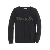 Girls' jeweled très jolie sweater
