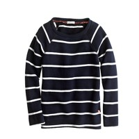 Girls' raglan sweatshirt in stripe