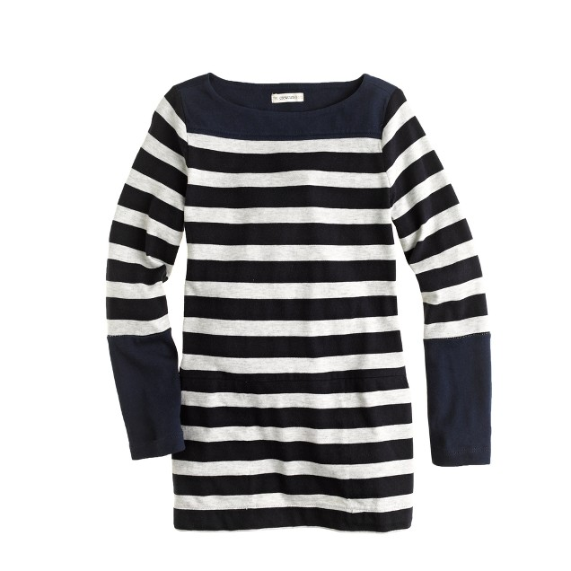 Girls' boatneck tunic in stripe