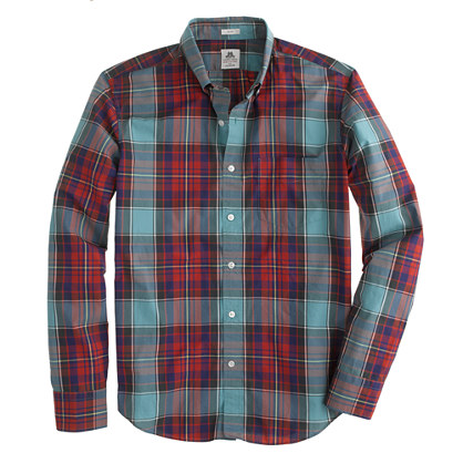 Slim Thomas Mason® archive for J.Crew shirt in 1901 tartan