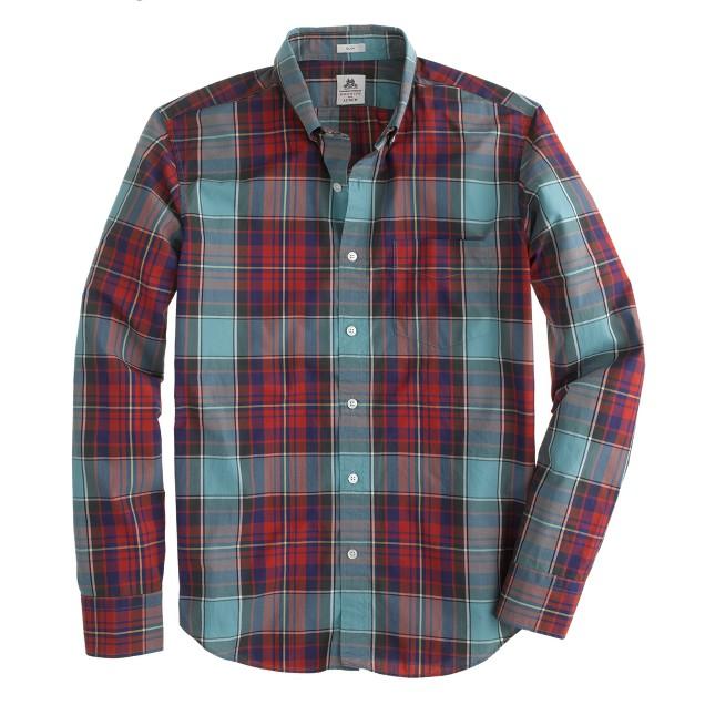 Slim Thomas Mason® archive for J.Crew shirt in 1901 tartan