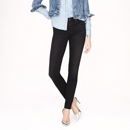 Midrise toothpick jean in blackout wash