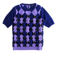 Collection beaded diamond back-zip sweater