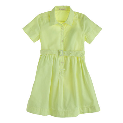 Girls' neon shirtdress