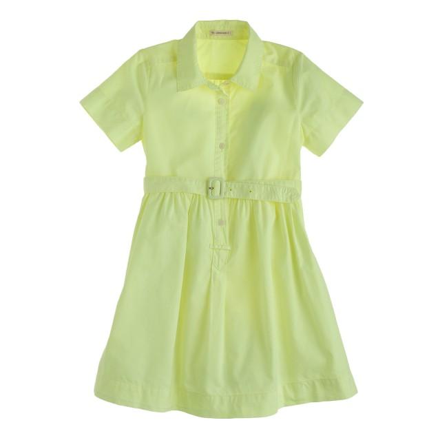 Girls' neon shirtdress