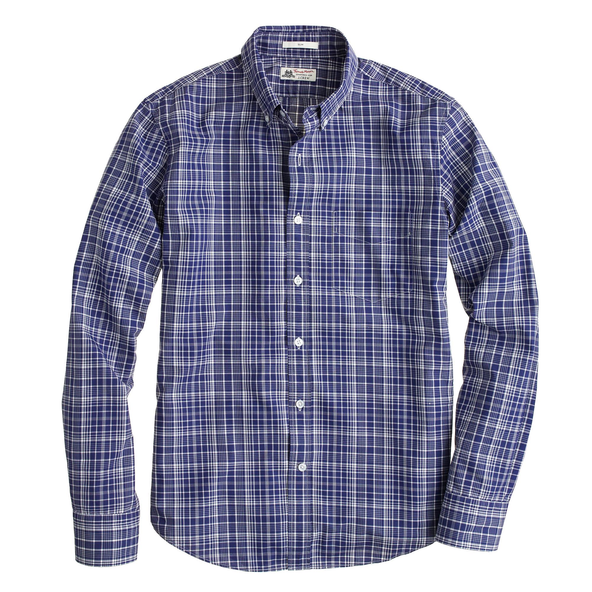 Slim thomas mason archive for j crew shirt in 1912 tartan for Thomas mason dress shirts