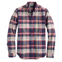 Vintage oxford shirt in dusty bamboo plaid
