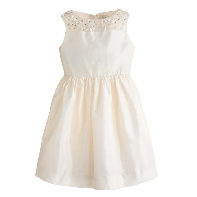 Girls' silk taffeta Maisie dress
