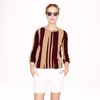 Collection cashmere cardigan in wide stripe
