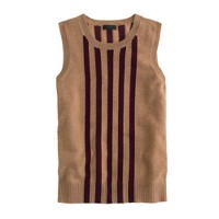 Collection cashmere shell in slim stripe