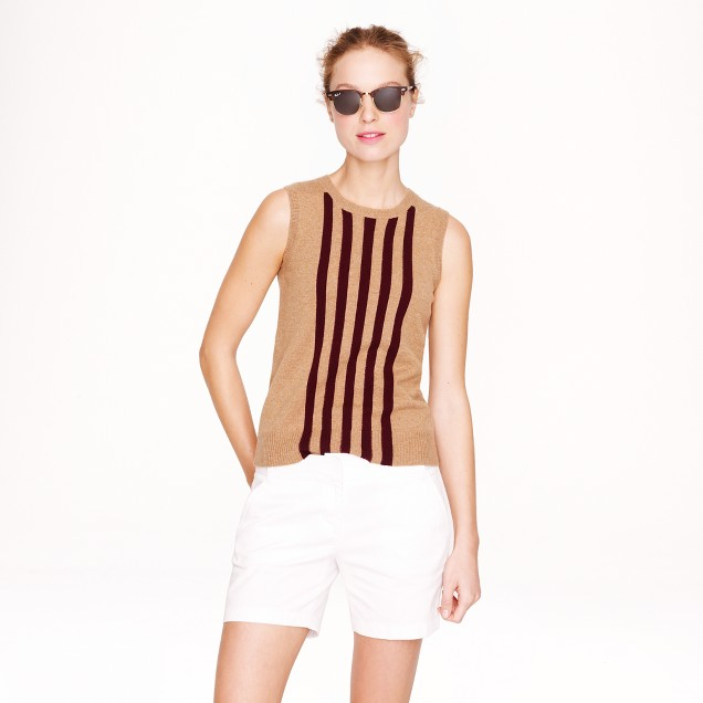 Collection cashmere shell in slim stripe