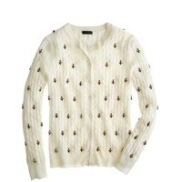 Collection jeweled cable cardigan