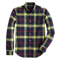 Vintage oxford shirt in navy plaid