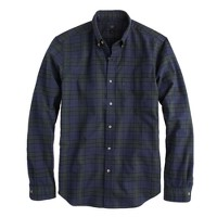Vintage oxford shirt in night shadow plaid