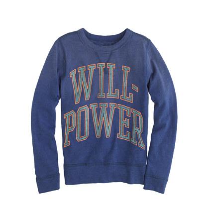 Boys' long-sleeve willpower tee