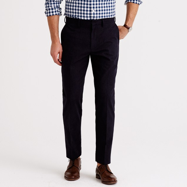 Bowery classic pant in brushed herringbone cotton
