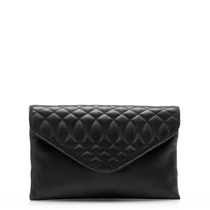 Quilted invitation clutch