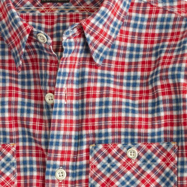 Shuttle Notes® indigo button-down shirt