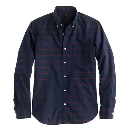 Slim Secret Wash shirt in thin stripe