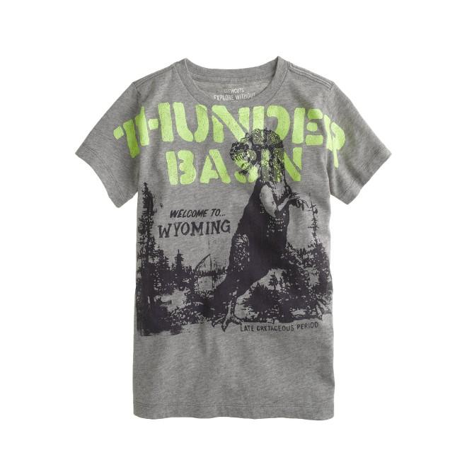 Boys' Thunder Basin dinosaur tee