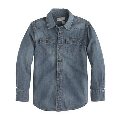 Boys' denim Western shirt