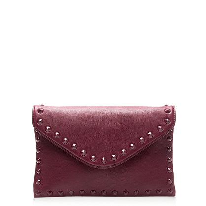 Studded invitation clutch