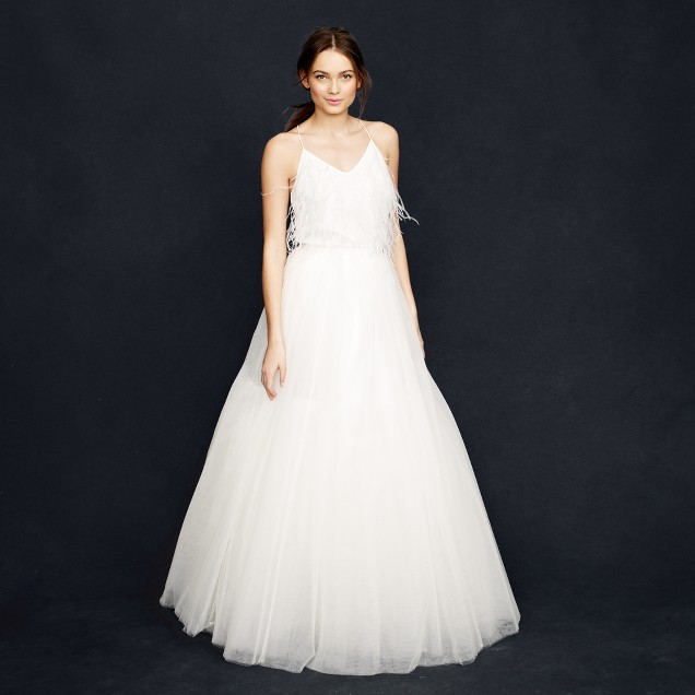 Collection snowdrop tulle ball gown skirt