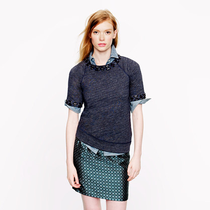 Jeweled short-sleeve sweatshirt : short-sleeve tees | J.Crew