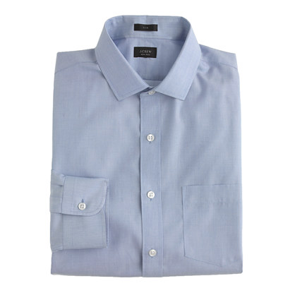 Ludlow Traveler shirt in end-on-end cotton