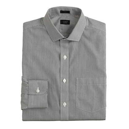 Ludlow Traveler shirt in black stripe