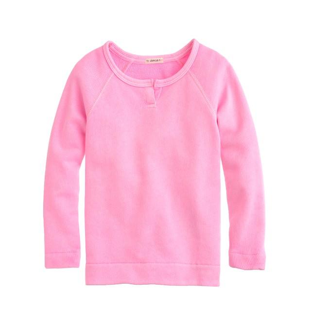 Girls' raglan sweatshirt in neon