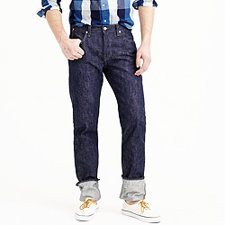 Wallace & Barnes raw unsanforized denim jean