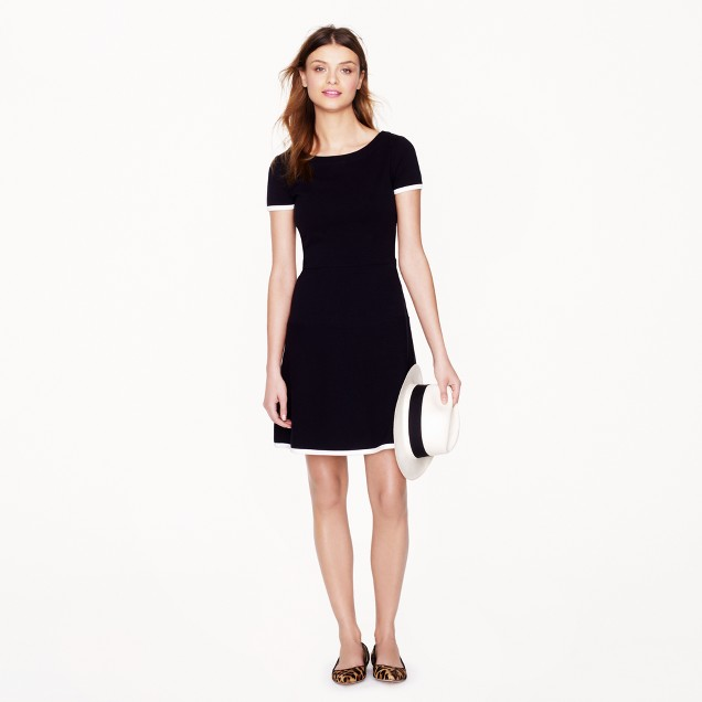 Tipped gamine dress