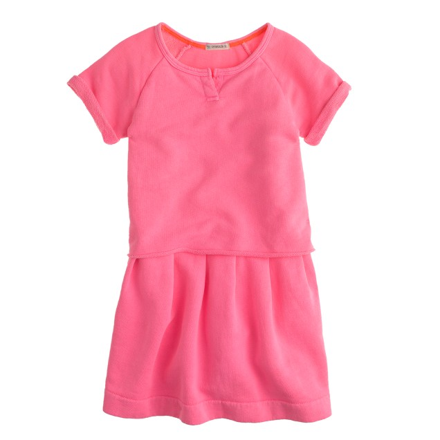 Girls' cutoff sweatshirt dress