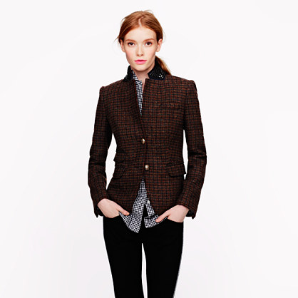 Petite schoolboy blazer in beaded tweed