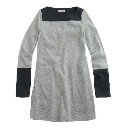 Girls' boatneck tunic in colorblock