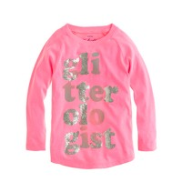 Girls' glitterologist tee
