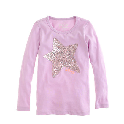 Girls' long-sleeve starshine tee
