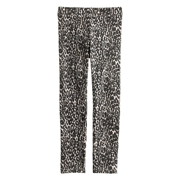 Girls' everyday leggings in cat print