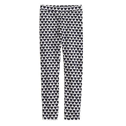 Girls' everyday leggings in heart print