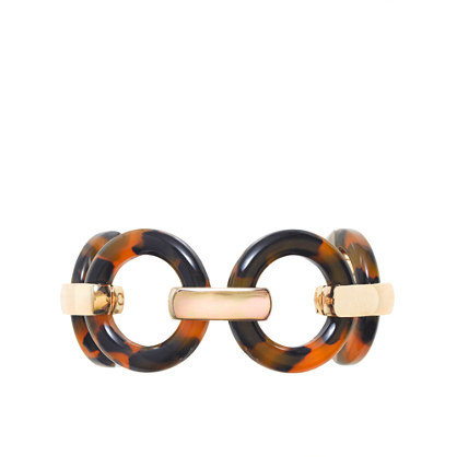 Tortoise circle link bracelet