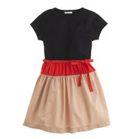 Girls' tee dress in colorblock